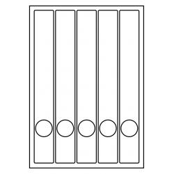 RUG-ETIKETTEN VOOR SMALLE ORDNERS + GAT, 37 x 280 mm