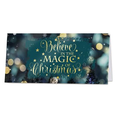 Magische wenskaart met vrolijke kerstquote