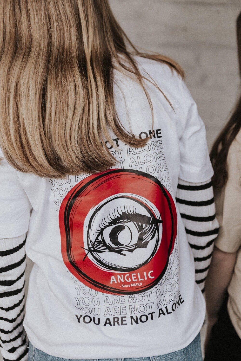 ANGELIC T-Shirt weiss, YOU ARE NOT ALONE - UNISEX.