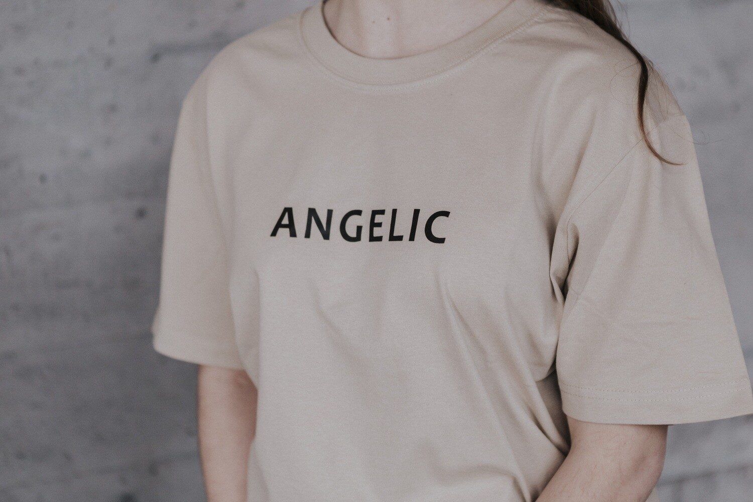ANGELIC T-Shirt sand, YOU ARE NOT ALONE - UNISEX.