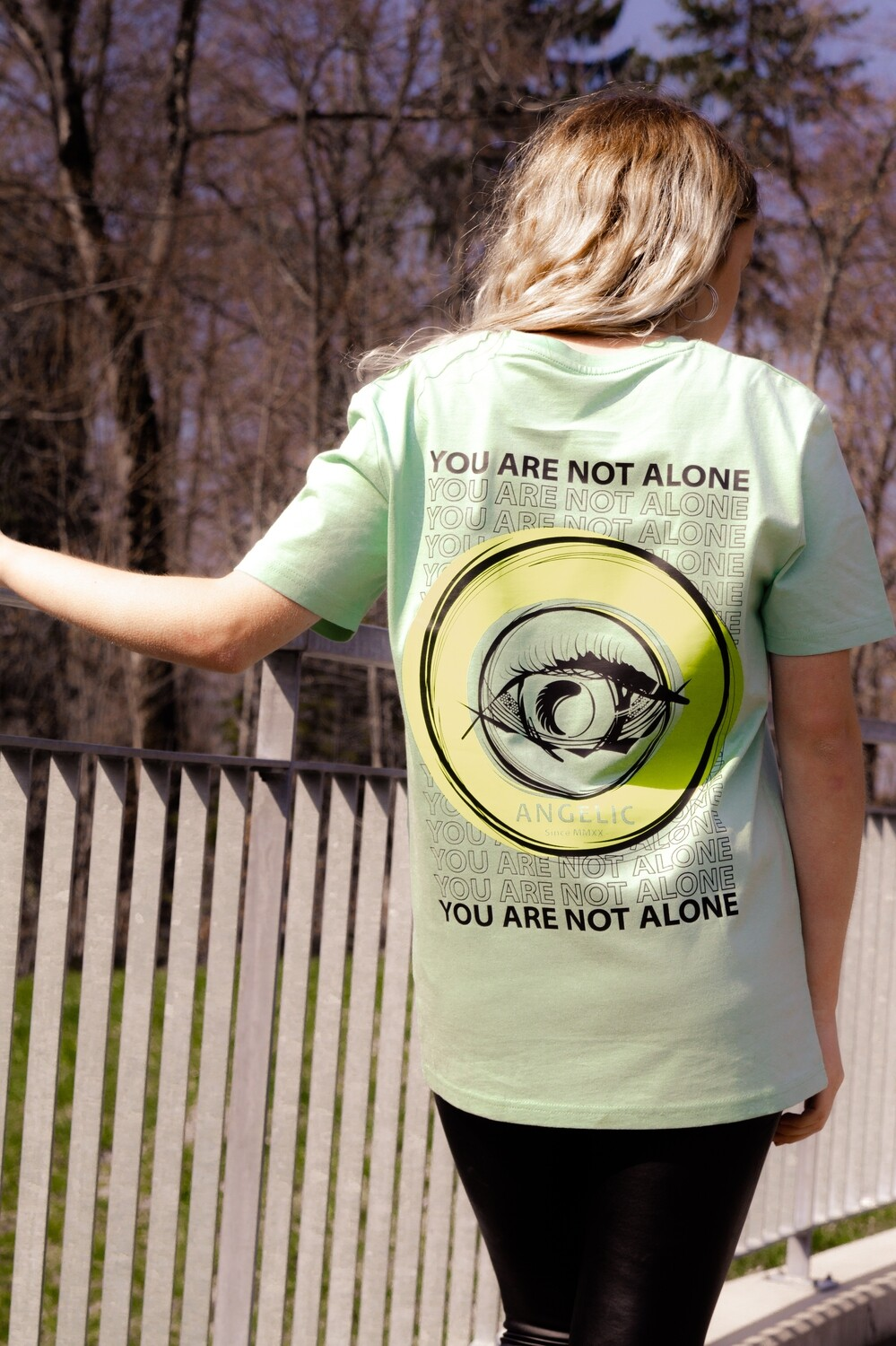 ANGELIC T-Shirt green, YOU ARE NOT ALONE - UNISEX.