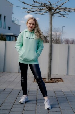 ANGELIC Hoodie green, YOU ARE NOT ALONE - UNISEX