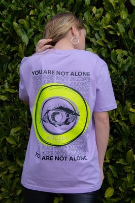 ANGELIC T-Shirt lila, YOU ARE NOT ALONE - UNISEX. Grösse M