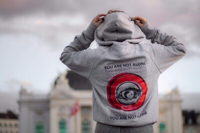 ANGELIC Hoodie grau, YOU ARE NOT ALONE - UNISEX.