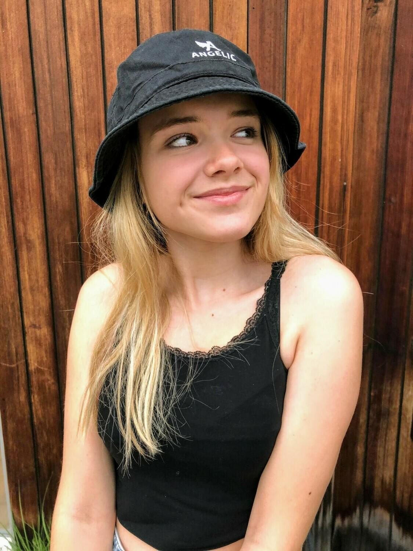 ANGELIC bucket hat, BLACK, unisex