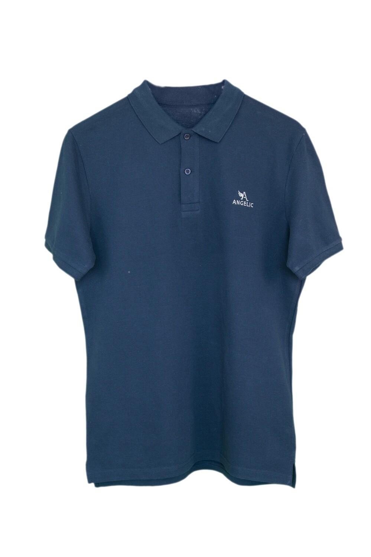 ANGELIC Polo-Shirt MEN marineblau, gesticktes Logo.