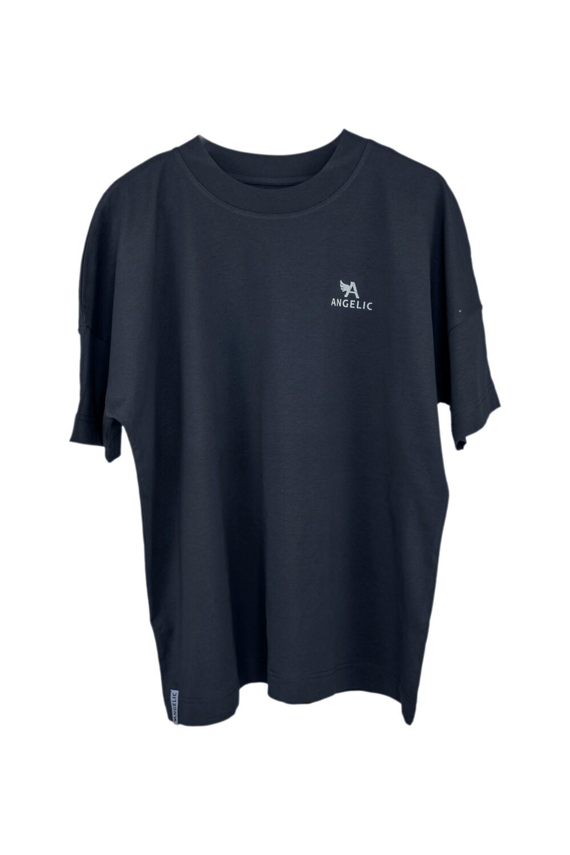 Oversized ANGELIC T-Shirt anthrazit, UNISEX.