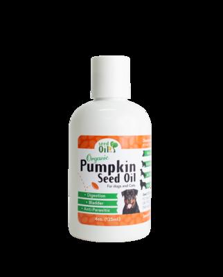 Organic Pumpkin Seed Oil for Pets 4oz