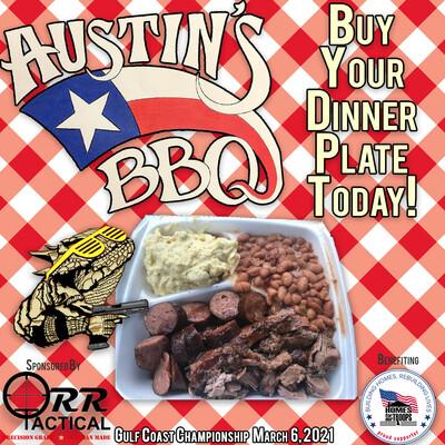 Austin's BBQ Dinner Plate 2021