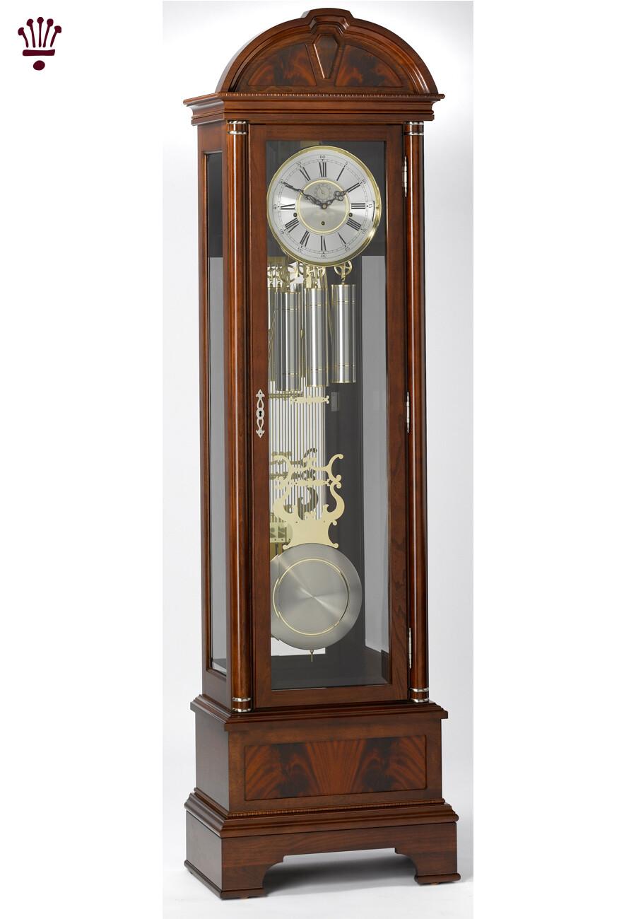 Billib Fulton Grandfather Clock In Mahogany Finish