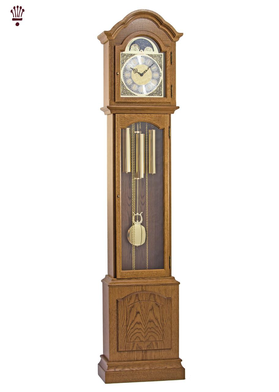 Billib Glenhaven Grandmother Clock In Oak Finish