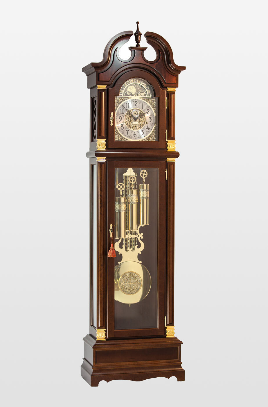 Billib Guildhall Grandfather Clock in Walnut Finish