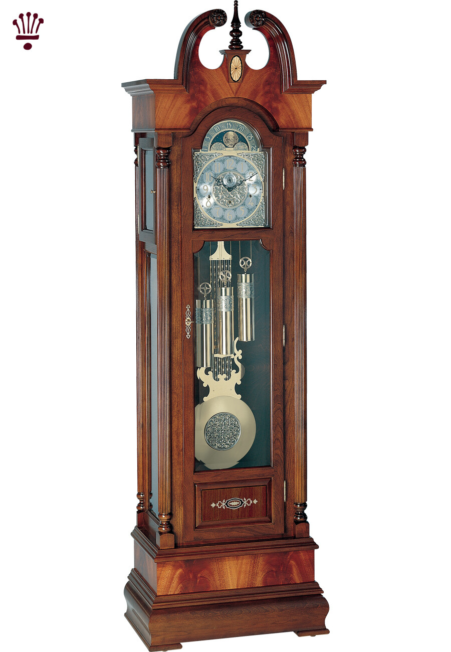 Billib Lexington Grandfather Clock in Mahogany Finish