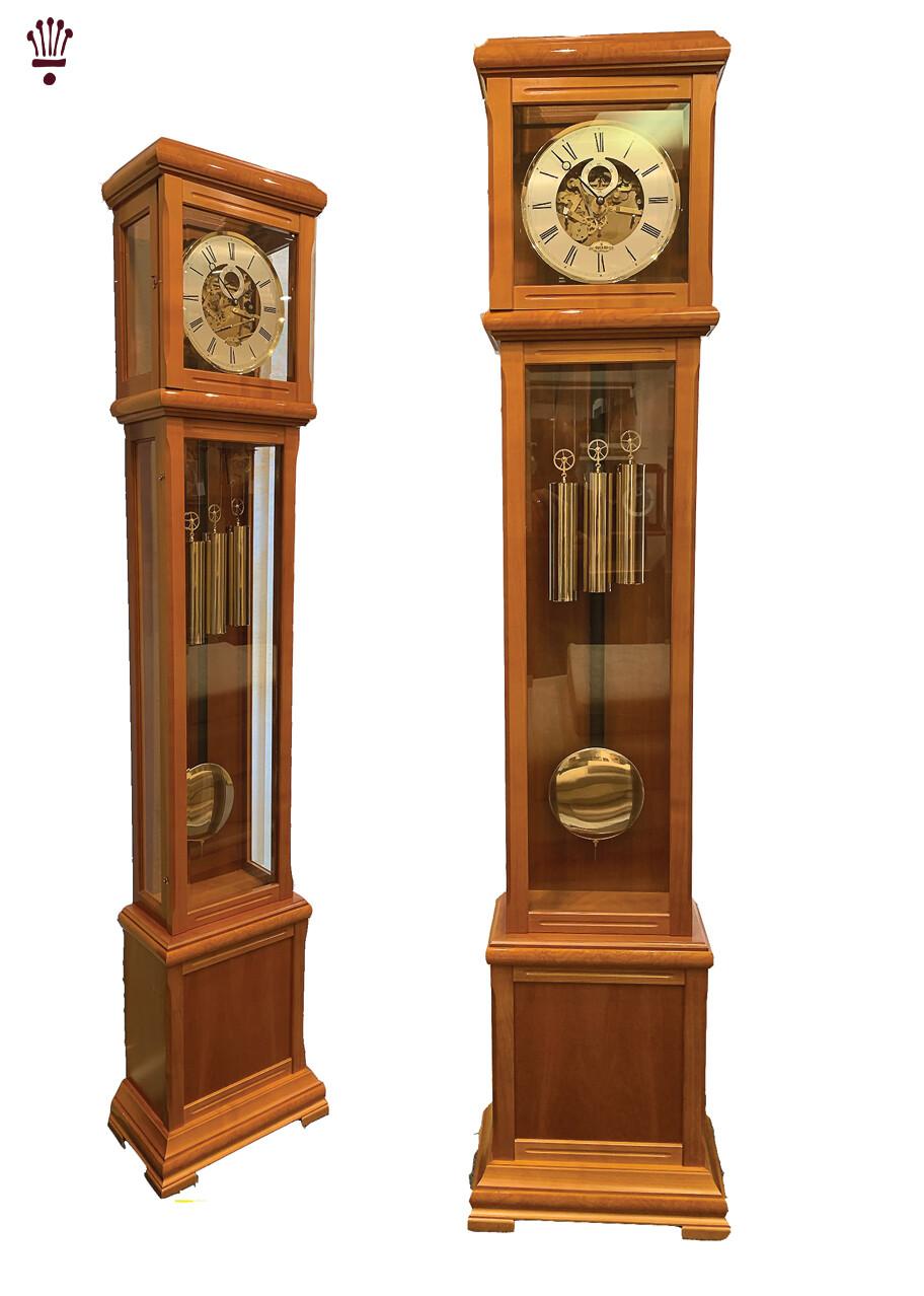 Billib Lavern Grandfather Clock In Cherry Finish