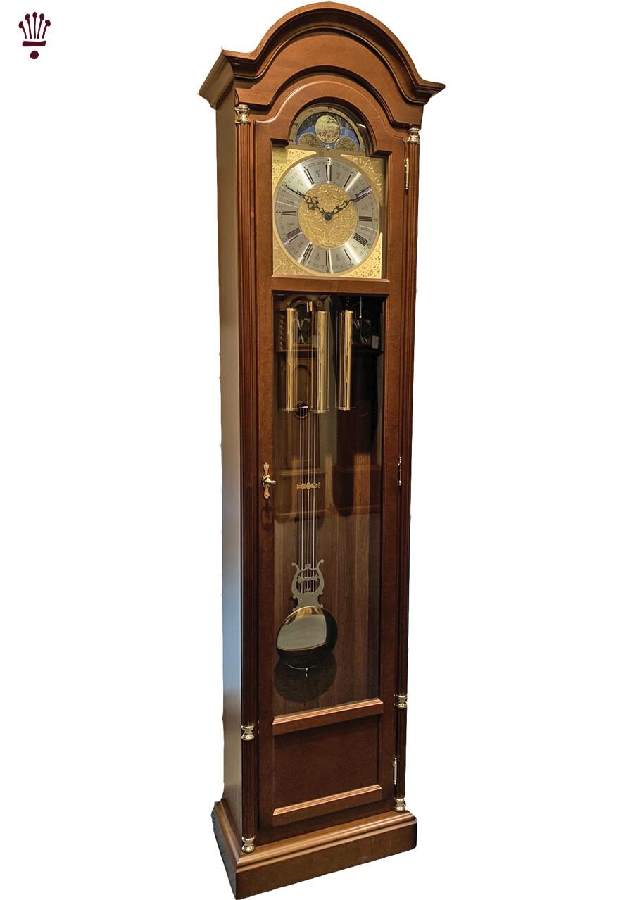 Billib Mansfield Grandfather Clock in Walnut Finish