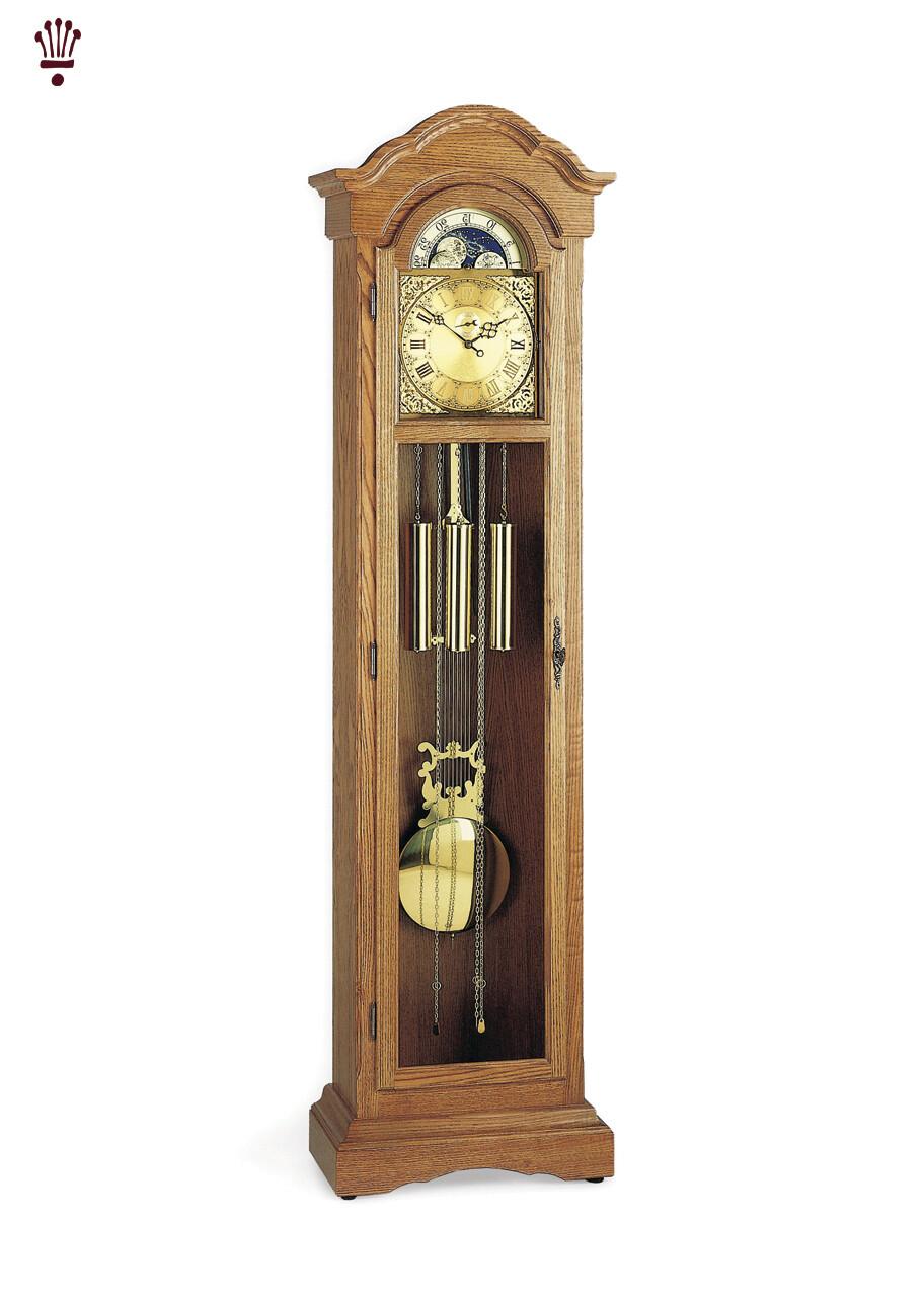 Billib Mayfair Oak Grandfather Floor Clock