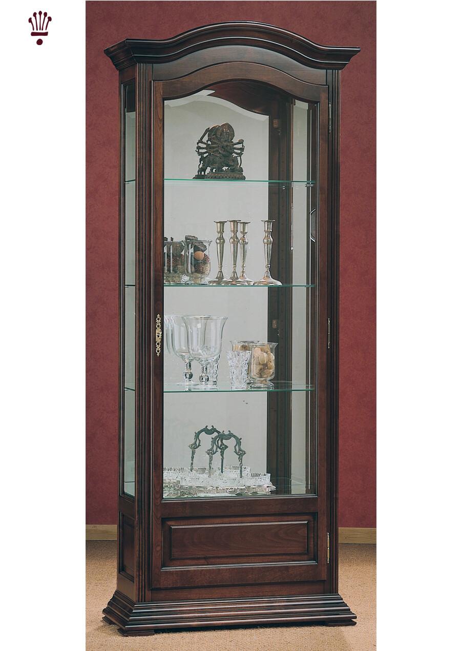 Billib Monique Oak Finish Locking Display Cabinet