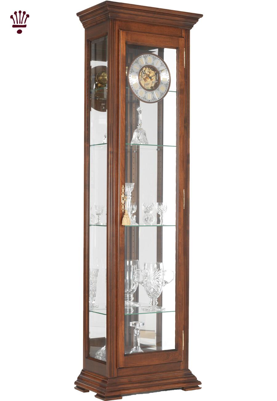 Billib Stephanie Grandfather Clock In Walnut Finish