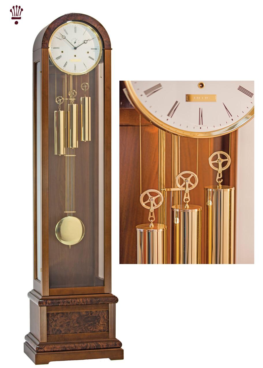 Billib Vanguard Grandfather Clock in Walnut Finish