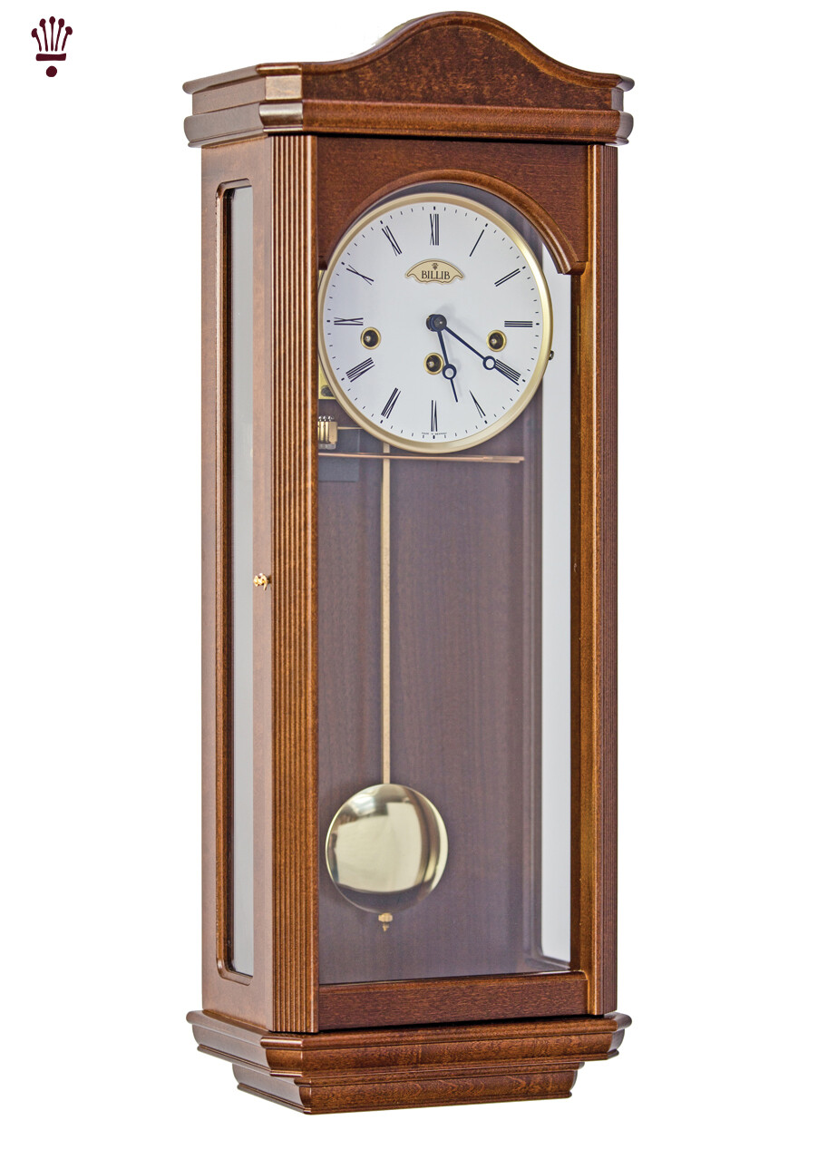 Billib Norton Mechanical Wall Clock In Walnut Finish