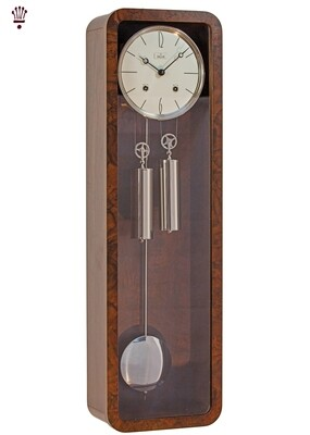 Billib Vintage Mechanical Wall Clock in Walnut Finish