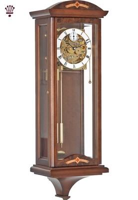 Billib Redhill Mechanical Triple Chime Wall Clock in Walnut Finish