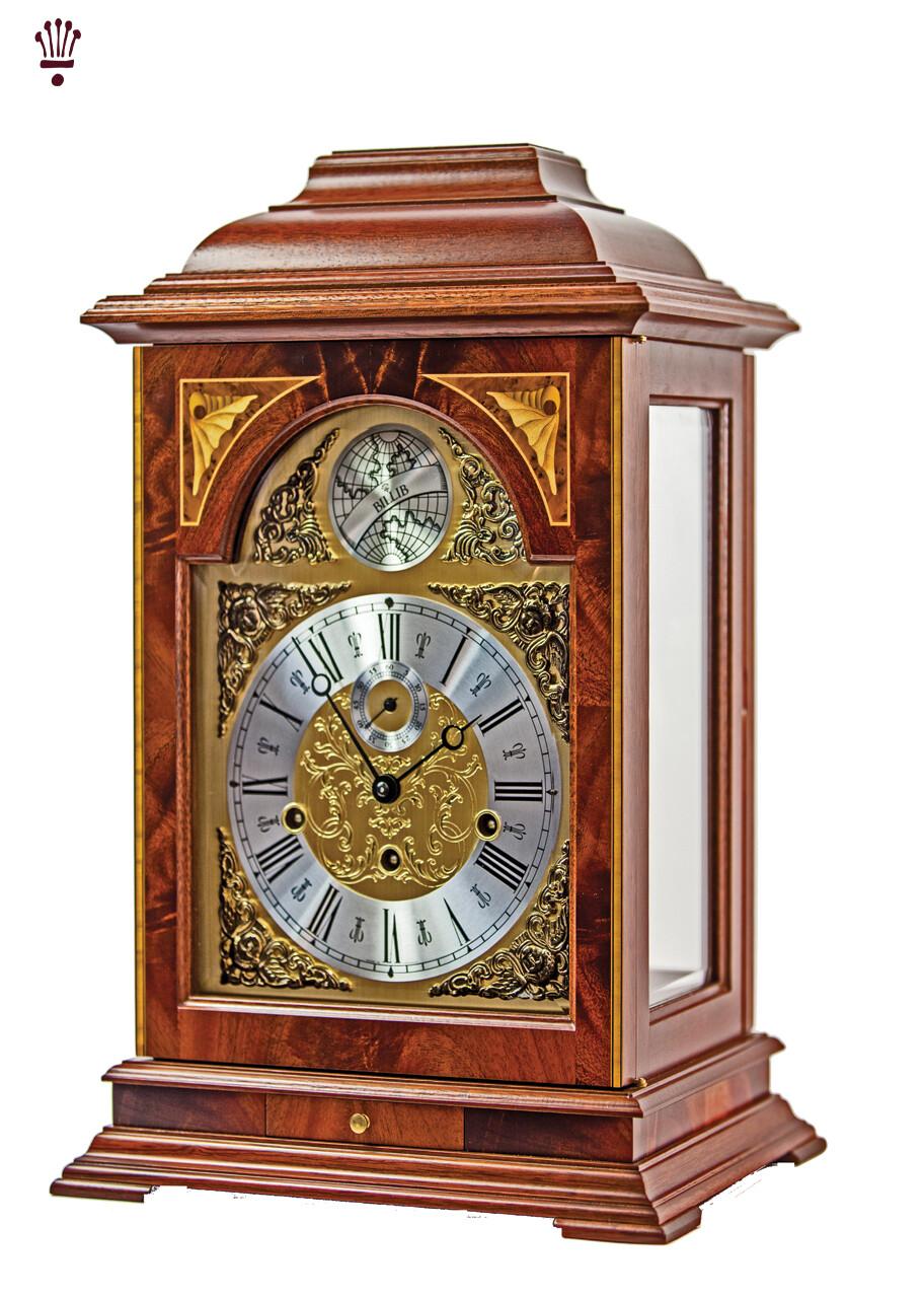 Billib Heirloom Mahogany Mantel Clock