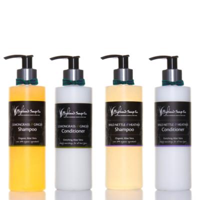 Aloë Vera Shampoo Citroengras & Gember 250 ml, pomp