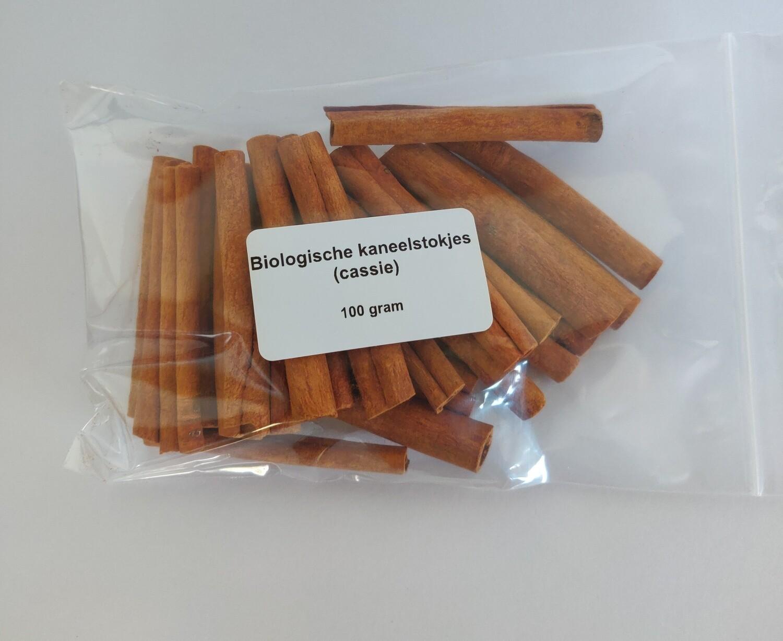 Biologische kaneelstokjes (cassie)  100gr