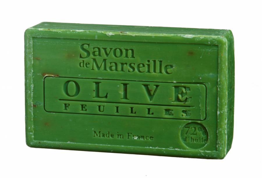 Savon de Marseille - Natuurlijke olijf zeep met blaadjes