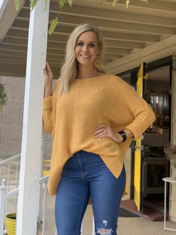 Mustard One Size Sweater