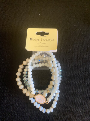 White Stretch Bracelet Set