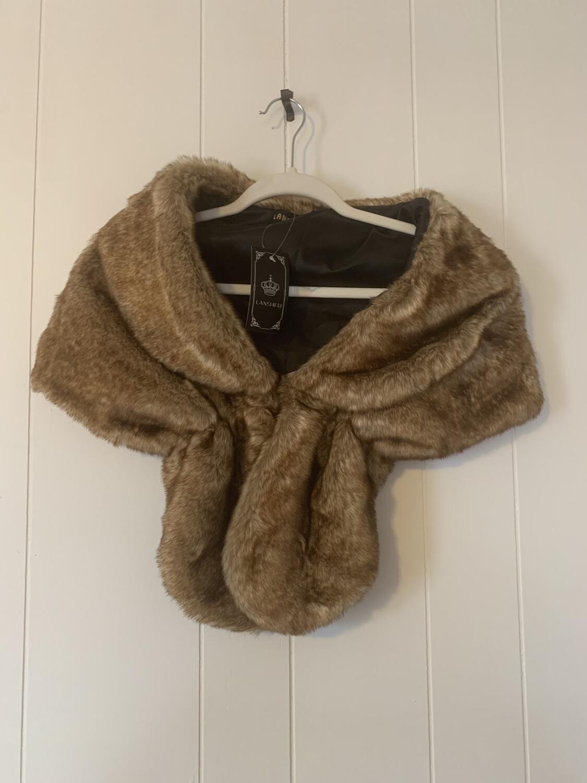Brown Fur Cape
