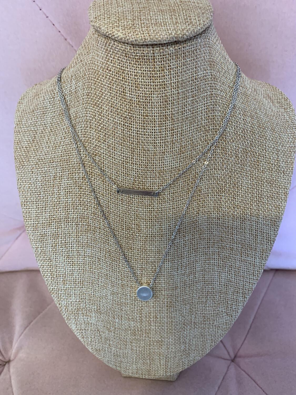 2  Tier Silver Necklace