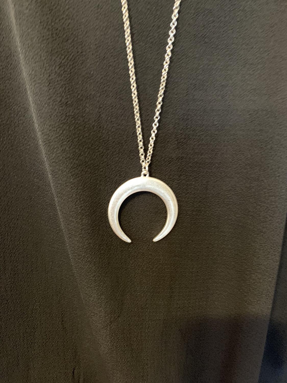 Silver Half Circle Necklace