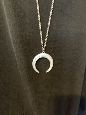 Silver Half Circle Necklace