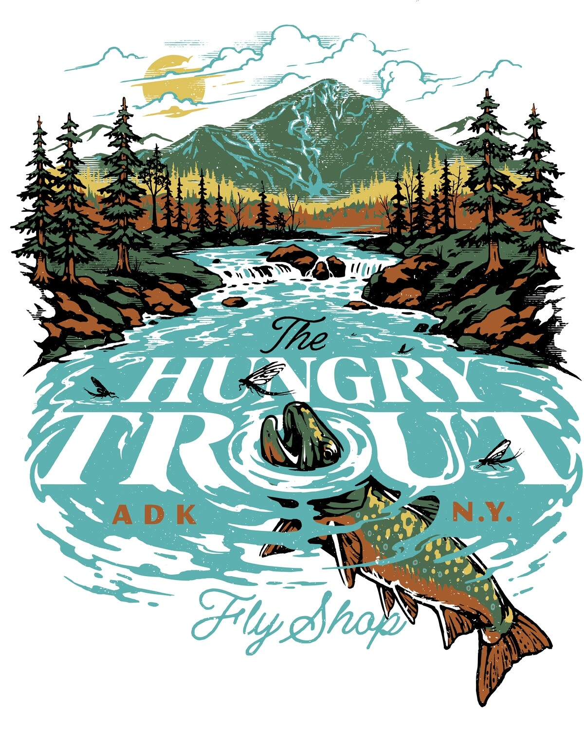 Hungry Trout Fly Shop T Shirts