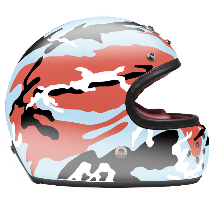 FULL FACE HELMET CAMOUFLAGE ORANGE