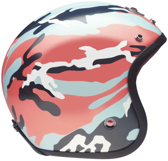 OPEN FACE HELMET CAMOUFLAGE ORANGE