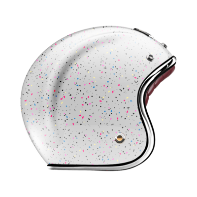 GUANG® - OPEN FACE HELMET COSMOS WHITE