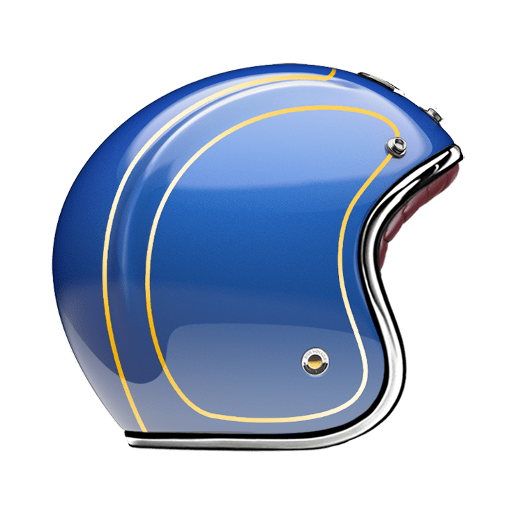 GUANG® - OPEN FACE HELMET DETROIT BLUE