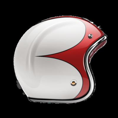 GUANG® - OPEN FACE HELMET SPEEDRUN RED & WHITE