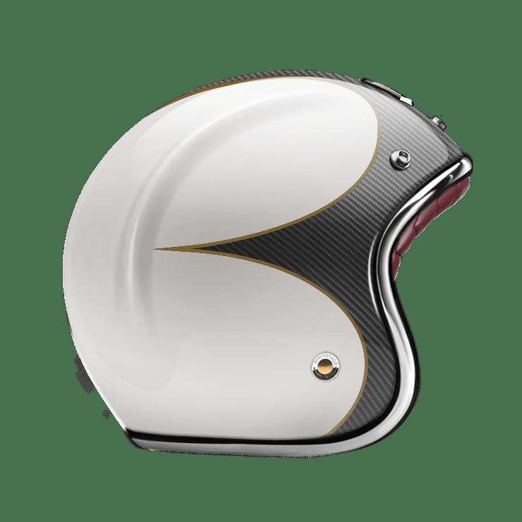 GUANG® - OPEN FACE HELMET SPEEDRUN CARBON & WHITE