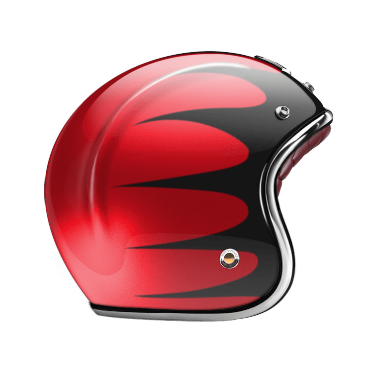 OPEN FACE HELMET SPEEDRUN BLACK & RED