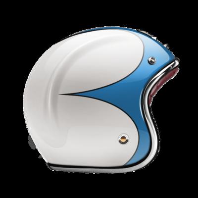 GUANG® - OPEN FACE HELMET SPEEDRUN BLUE & WHITE