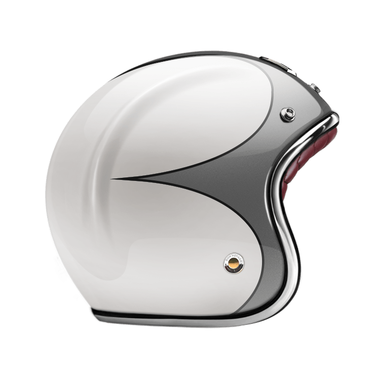 GUANG® - OPEN FACE HELMET SPEEDRUN GREY & WHITE