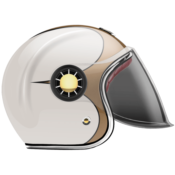 JET HELMET SPEEDRUN GOLD & WHITE