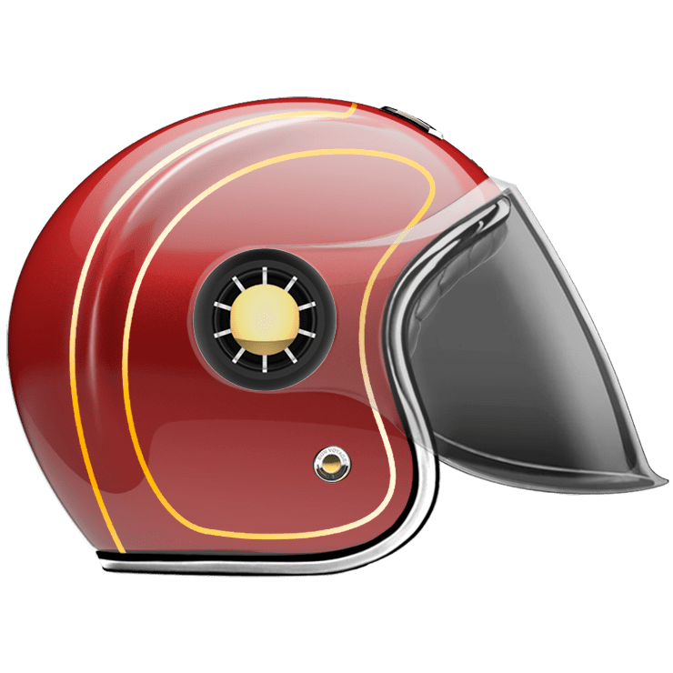 JET HELMET DETROIT RED