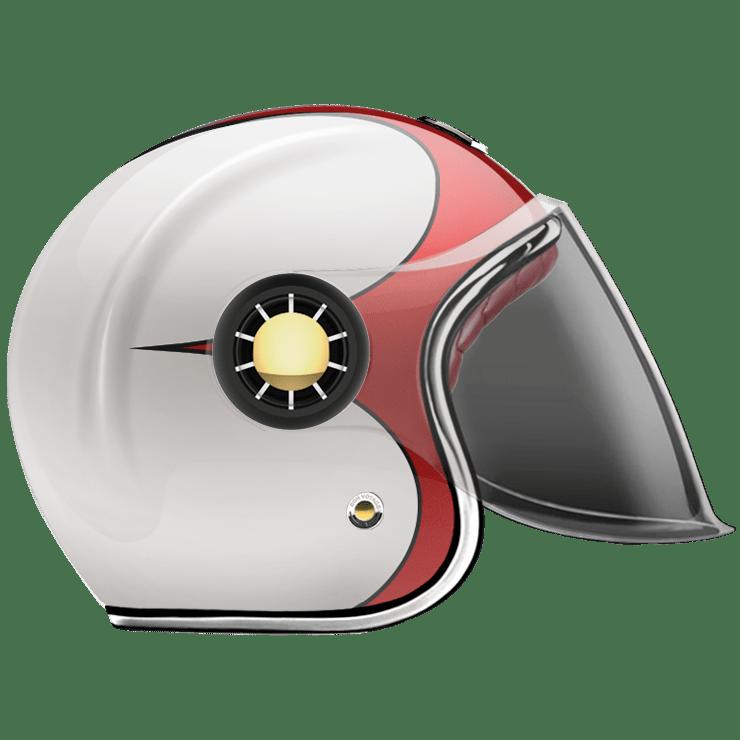 GUANG® - JET HELMET SPEEDRUN RED & WHITE