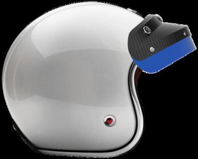 OPEN - FULL FACE HELMET INCLUSIO BLUE CARBON MATT